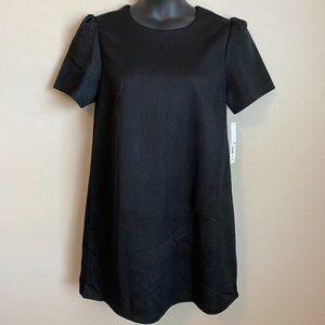 NWT Women's Massini Plain Black Shift Dress - XL